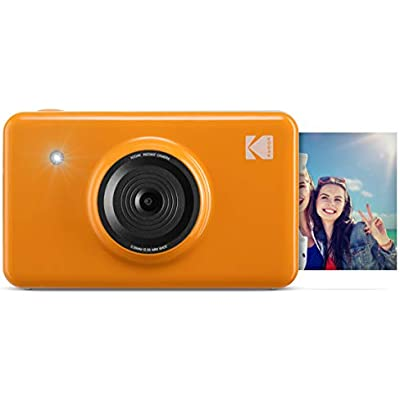 Kodak Mini Shot Wireless Instant Digital Camera Portable Photo Printer  LCD Display  Premium Quality Full Color Prints  Compatible w iOS Android  Yellow   KODMSY