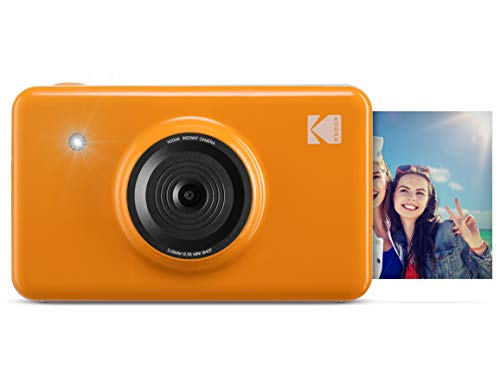 Kodak Mini Shot Wireless Instant Digital Camera & Social Media Portable Photo Printer, LCD Display, Premium Quality Full Color Prints, Compatible w/iOS & Android (Yellow)
