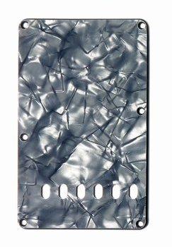 Pearloid Tremolo Cover - Tremolo Spring Cover Black Pearloid 3-ply (BP/B/W) Allparts PG-0556-053