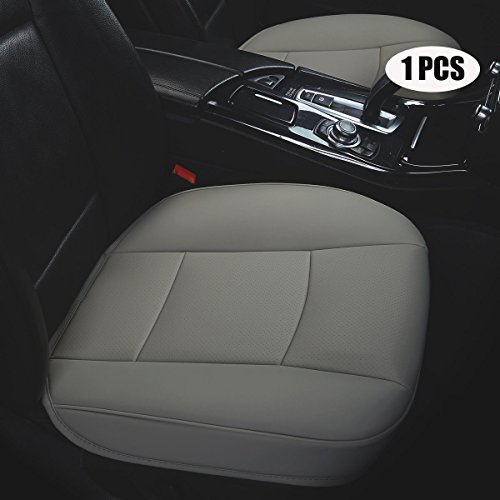 EDEALYN W 20.5''× L21'' PU leather auto seat cover driver c