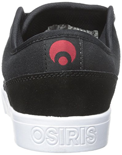 OSIRIS scarpe Decay nero rosso black/red skateboard shoes (42 EU / 9 US)