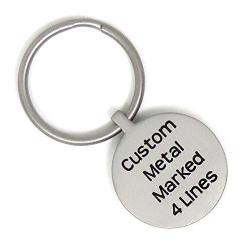 Stainless Steel Key Ring - Personalized - Custom Metal Marked Front and Back - Heavy Duty - Choose Font -