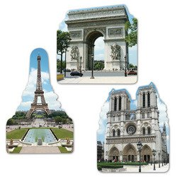 Costume Notre Dame De Paris (French Cutouts   (3/Pkg))