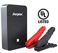 Energizer Heavy Duty Portable Car Jump Starter -11100mAh / 44000mWh UL Lithium Battery with 2.4 USB Charger Power Bank.