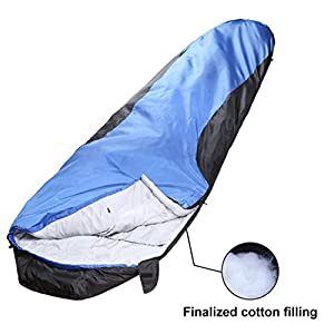 VERZEY Envelope Camping Sleeping Bag Great For 4 Season Traveling Camping Hiking Outdoor Activities Waterproof Sleeping Bag For Adults Kids Boys And Girls