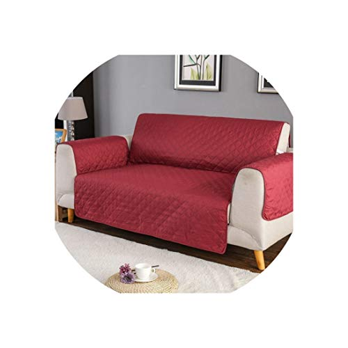 Sofa Cover1/2/3 Seat Sofa Cover Reversible Couch Chair Throw Pet Dog Kids Mat Washable Removable Armrest Slipcovers Furniture Protector,Red,2 Seat (130-195Cm)