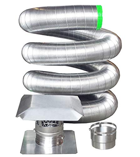 Rockford Chimney Supply RockFlex Stainless Steel Flexible Chimney Liner Insert Kit, 6 Inch x 25 Feet ()