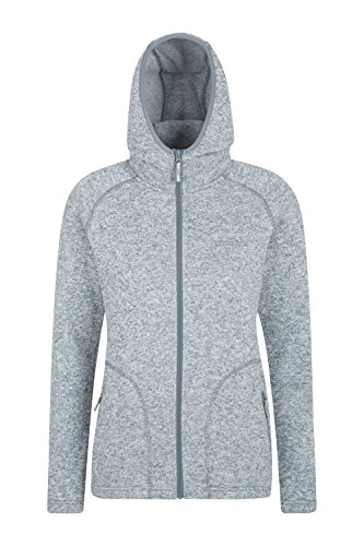 (Mountain Warehouse Nevis Womens Fleece Jacket - Full Zip Ladies Coat Grey 4)