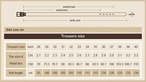 da in Cintura Buckle 110 Metal Lllm pelle Cm da Cintura 115cm uomo Jeans uomo FE1wEUZqr