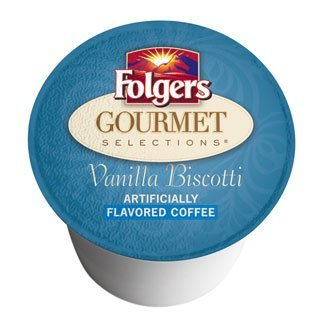 Folgers, Gourmet Selections, K-Cup Single Serve Coffee, 12 Count, 3.38oz Box(Pack of 3) (Vanilla Biscotti)