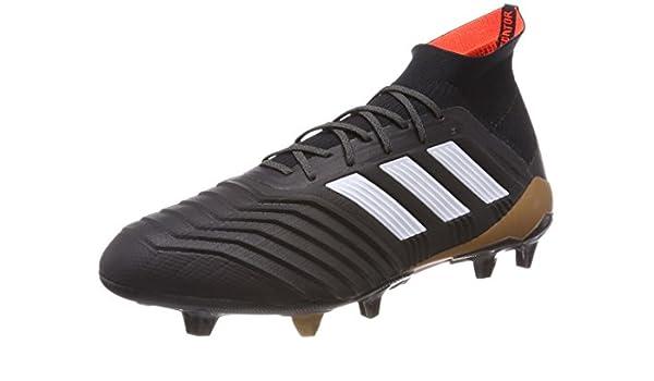 adidas Predator 18.1 FG Botas de fútbol, Hombre, Negro (Negbás/Ftwbla/Rojsol 000), 40 EU: Amazon.es: Deportes y aire libre