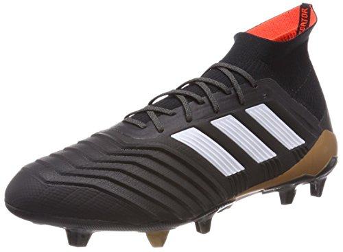 Degli Uomini Di Adidas Predator 18.1 Scarpe Da Calcio Fg Nero (nucleo Nero / Calzature Bianco / Rosso Solare)