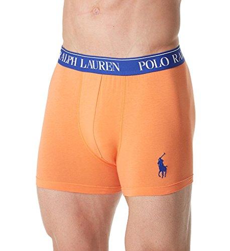 Cotton Embroidered Briefs - Polo Ralph Lauren Stretch Boxer Brief, M, May Orange