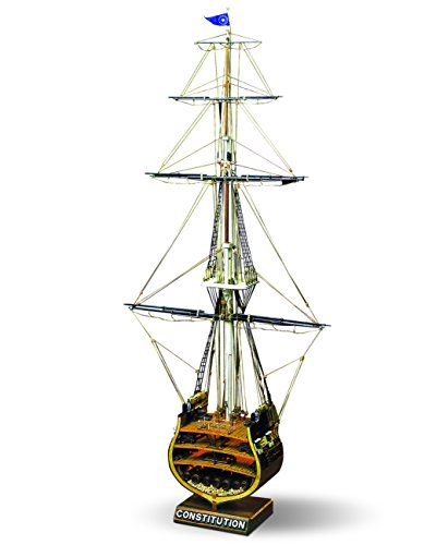 Mamoli-MV32-USS-Constitution-Section-Wood-Plank-On-Frame-Model-Ship-Kit-Scale-193-Width-320-mm-13-Height-667mm-26