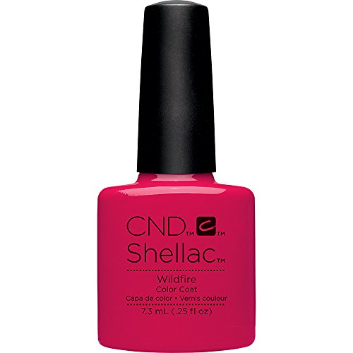 Creative Gel Nails - CND Shellac Nail Polish, Wildfire, 0.25 fl. oz.