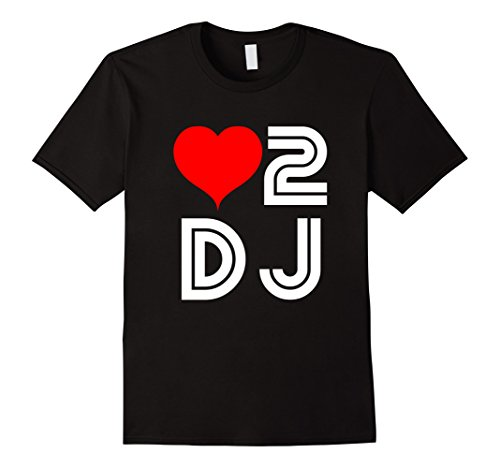 I love To Dj Party Heart 2 D.J Retro Concert Music T-shirt