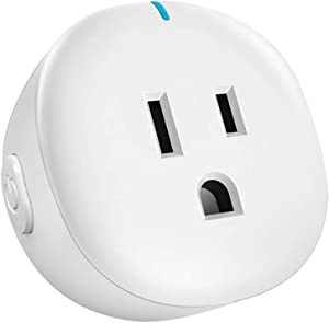 Orbecco Smart Plug, Mini WiFi Outlet Socket Compatible with Alexa Echo, Google Home, 10A, No Hub Required with Timer Function, Smart Life App Remote Control, White