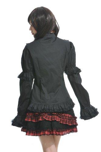 Blooms - Fashion Women Lolita Gothic Visual Punk Shirt Size S M L 81109B (Large)