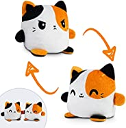 TeeTurtle | Plushmates | Cat | Calico | Happy + Angry | The Reversible Plush That Hold Hands!