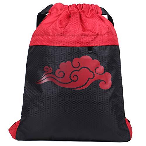 Gym Sack Sport Drawstring Backpack string Bag Gymsack Gym Sack Pack for Men Women Waterproof,cloud (M)