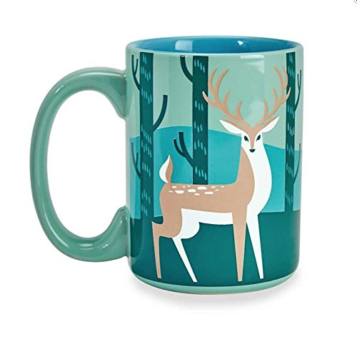 Kitsch'N Glam Mint Deer Mug 16 Fl oz (Mint)