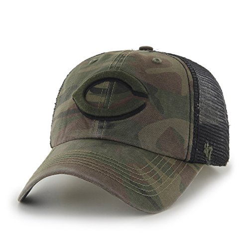 fan products of MLB Cincinnati Reds Beaufort Closer Stretch Fit Hat, One Size, Sandalwood