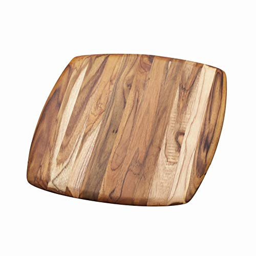 Cutting Square Board 12 (Serving Board With Rounded Edges - Square Teak Cutting Board (12 x 12 x .55 in.) - By Teakhaus)