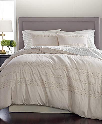 Martha Stewart Collection Eyelet Stripe Cotton 8 Piece King Comforter Set - Stewart Martha Eyelet