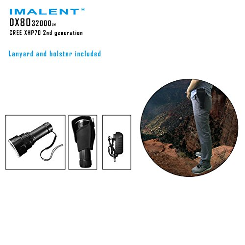 Imalent DX80 Flashlights High Lumens 32000 Lumens Searchlight LED Flashlights Built-in Battery by IMALENT (Image #5)
