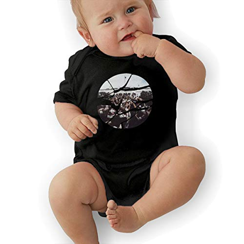 Kendrick Lamar to Pimp A Butterfly Music Band Short-Sleeve Baby Bodysuit Romper Cool Baby Bodysuit 45 Gift Black