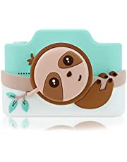 Kidamento Kids Digital Camera & Camcorder with Touchscreen, Soft BPA-Free Silicone Casing, WiFi & App, 16GB Memory Card - Model K - Sloth
