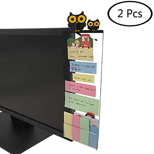 Goblin's Treasures Excelity Concise Monitor Message Board/Computer Monitors Side Panel/Notes Memo Board Message for Monitors,1Set (Left & Right) (owl)