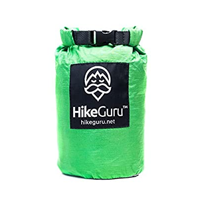 Hike Guru Double Hammock with Tree Straps and Carabiners - by HikeGuru w/Real Tree Straps| Metallic Buckle System| RISK-FREE 365 DAYS| Lightweight 2.2| Unique Bag Design