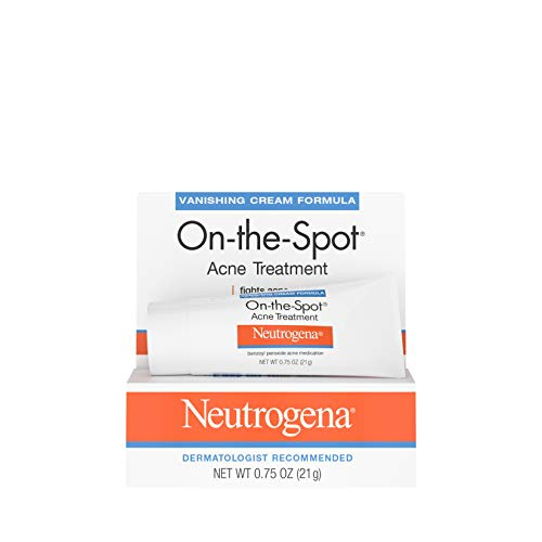 Neutrogena On-The-Spot Acne Spot Treatment with 2.5% Benzoyl Peroxide Acne Treatment Medicine to Treat Face Acne, Gentle Benzoyl Peroxide Pimple Gel for Acne Prone Skin, .75 ()