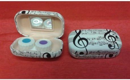 Caja para lentillas diseño clave de sol notas musicales.: Amazon.es: Instrumentos musicales