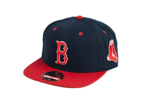 MLB Men's Boston Red Sox Blockhead Snapback Cap (Navy/Red, (Navy Blue Boston Red Sox Jacket)
