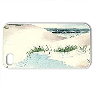 Beach House by Ken Decker - Case Cover for iPhone 4 and 4s (Beaches Series, Watercolor style, White)