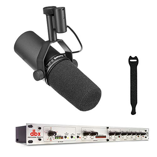 Shure SM7B Cardioid Dynamic Vocal Microphone with dbx 286s Mic Preamp/Channel Strip & 10-Pack Straps Bundle