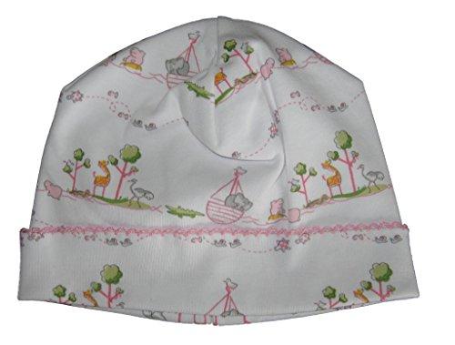(Kissy Kissy Baby-Girls Infant Noah's Print Hat-Pink-Newborn)