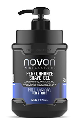 3 x Novon Professional Shaving Gel - Rasiergel 1000ml - Transparentes Rasiergel ideal für Zeichnungen der Rasur