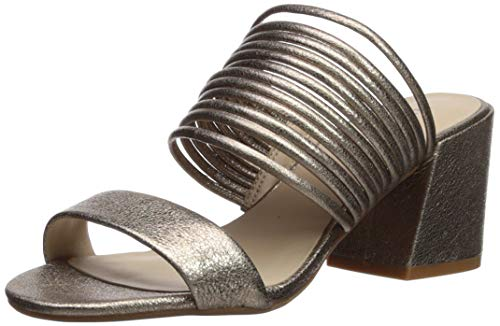 Kenneth Cole New York Women's Hannon Strappy Mule Heeled Sandal Champagne 6 M US (Cole Wrap Kenneth)