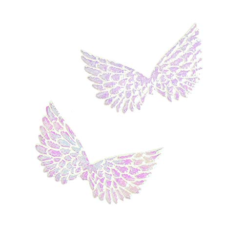 Homeford Holographic Embossed Angel Wing Party Favor Embellishments, 1-1/2-Inch, 6-Count -