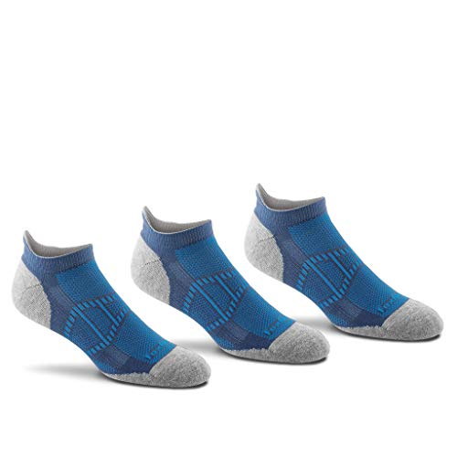 Ingeo Fiber - Fox River Men's Verso Ankle Tab No-Show Sock 3 Pack (Grey, Large)
