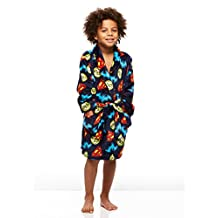 DC Super Friends Boys Plush Robe, with Superman, Batman, and the Flash, by Jellifish Kids