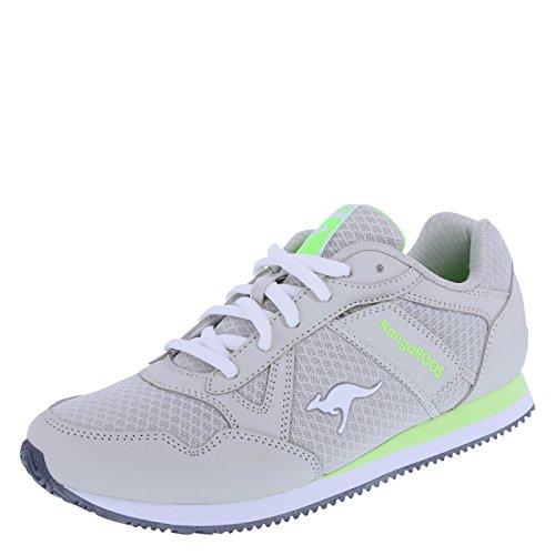 KangaROOS Women's Light Grey Lime Women's Shaker Jogger 7.5 Regular