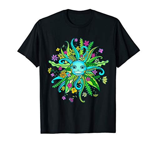 - Mother Earth Planet Flora Fauna Hippie Nature 60s 70s Shirts