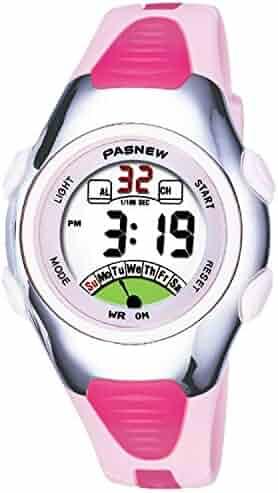 Kids Watch 30M Waterproof Sport LED Alarm Stopwatch Digital Child Wristwatch for Boy Girl Gift Pink