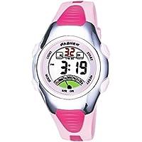 viliysun Niño Reloj 50m Waterproof Sport Alarma Cronómetro digital LED Kid reloj de pulsera para niño niña color rosa