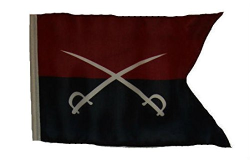 - ALBATROS 12 inch x 18 inch Historical General Custer Sleeve Flag for use on Boat, Car, Garden for Home and Parades, Official Party, All Weather Indoors Outdoors