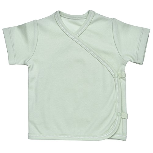 - Under the Nile Unisex Baby Short Sleeve Side-Snap T-Shirt Size 0-3M Solid Green Organic Cotton
